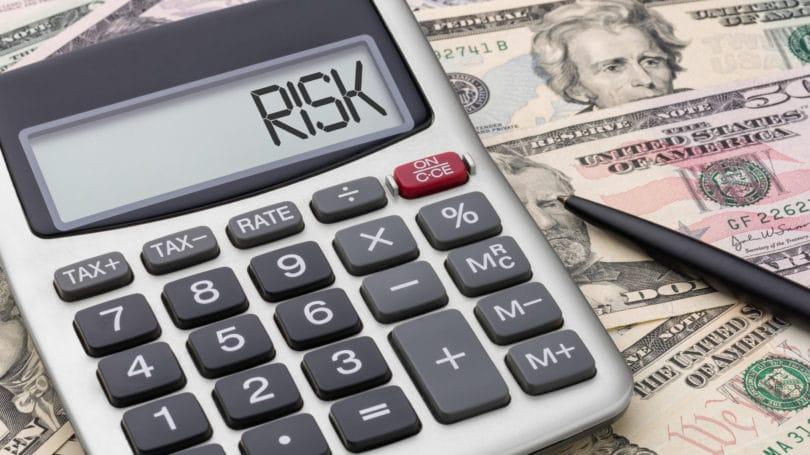 Bolígrafo de riesgo calculado en efectivo