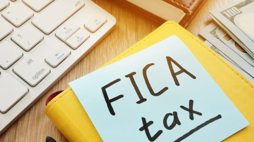 Teclado Post-It de impuestos de Fica